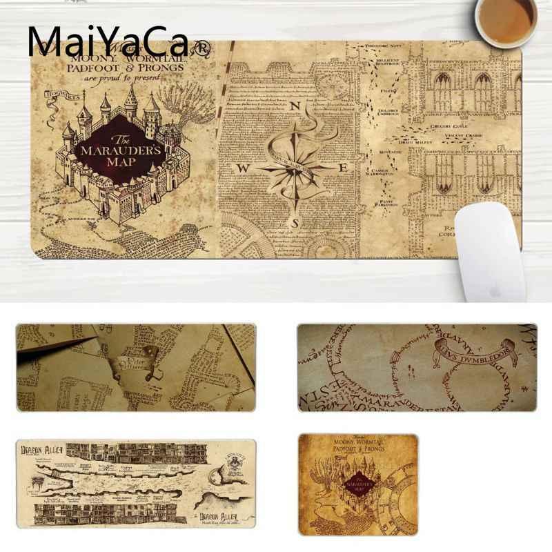 Maiyaca Top Quality Potter Map Gamer Play Mats Mousepad - Harry Potter Marauders Map - HD Wallpaper