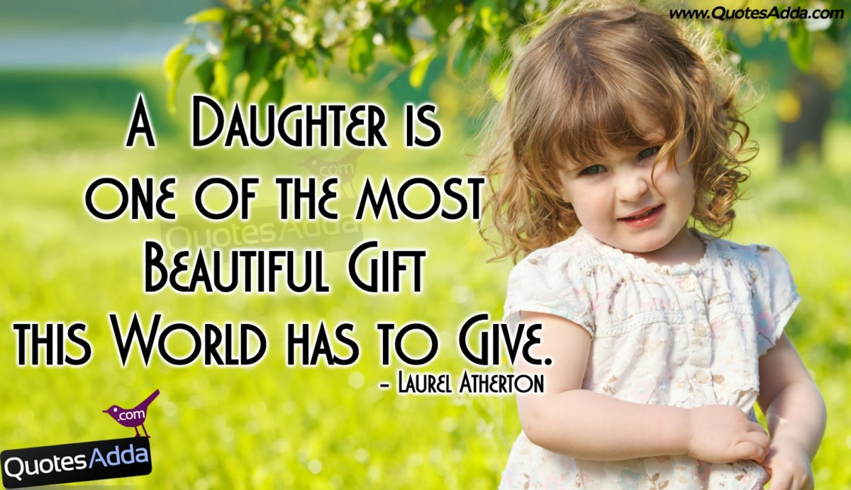 A Baughter Is One Of The Most Beautiful Gift This World - Girl Baby Quotes In English - HD Wallpaper