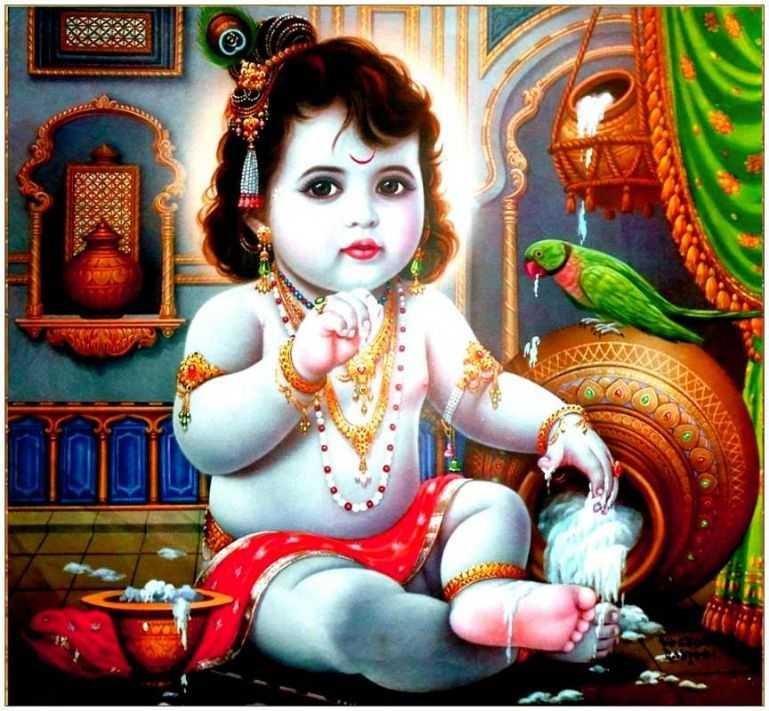 Whatsapp, Dp, Wallpaper, Cute, Baby, Desktop, Krishna, - Maiya Mori Main Nahin Makhan Khayo Mp3 - HD Wallpaper