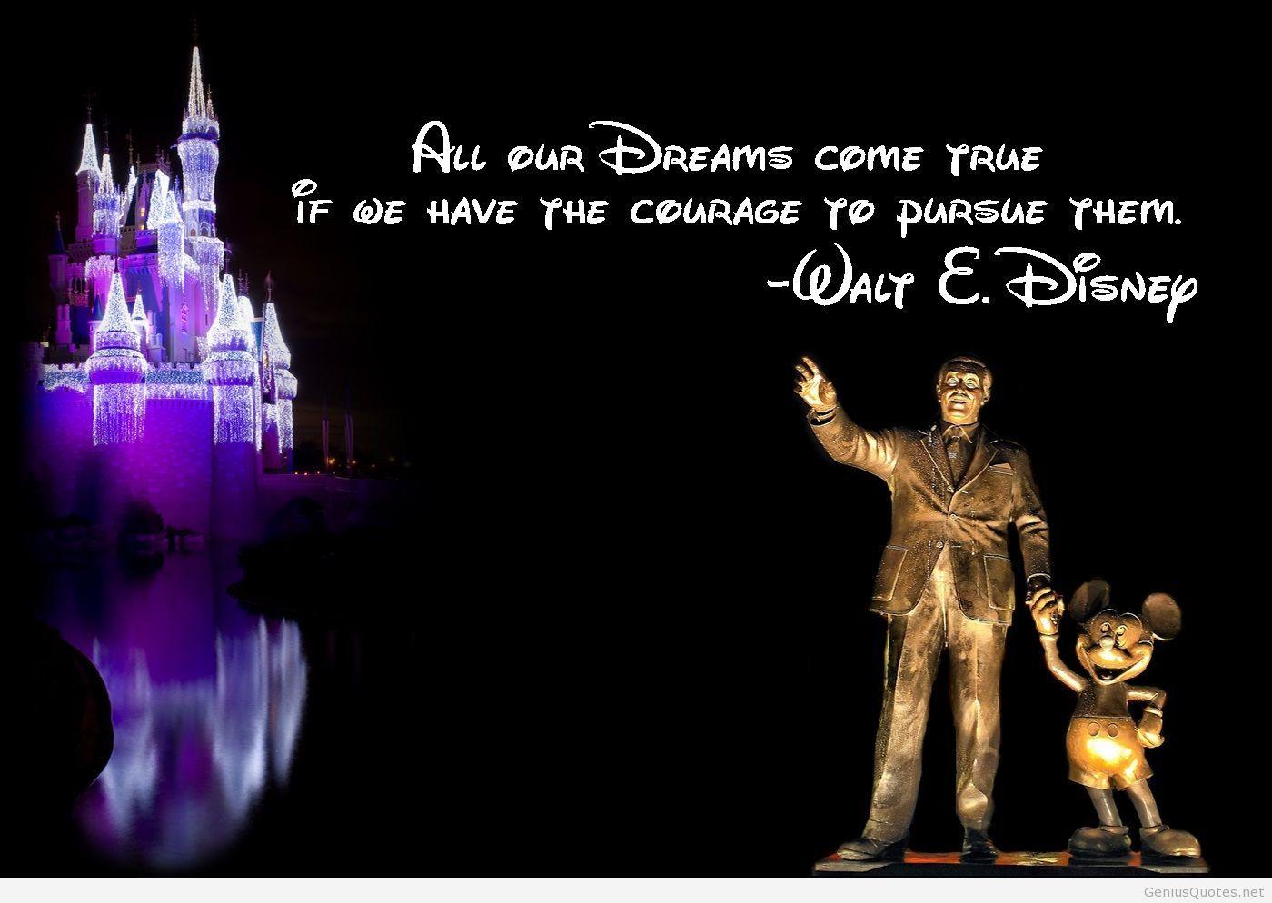 Follow Your Dreams Disney Quotes - HD Wallpaper