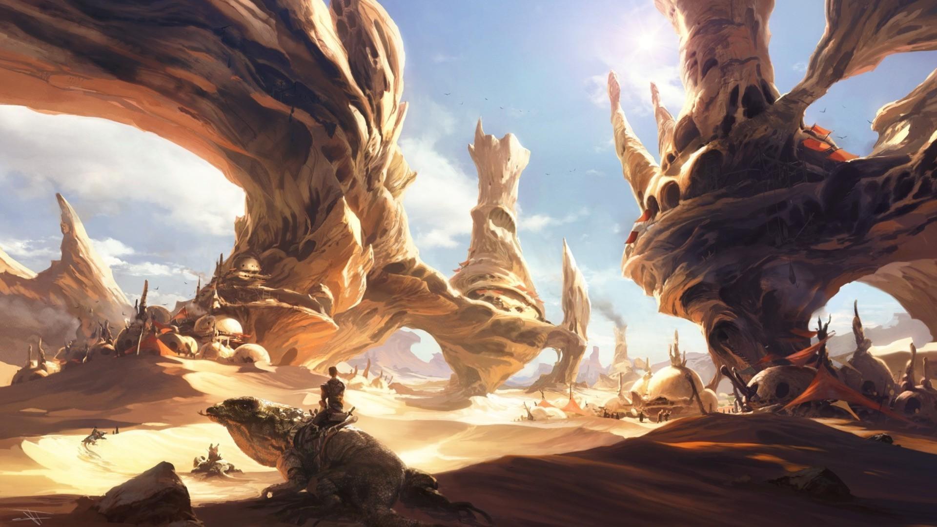 Desert Luke Skywalker Star Wars Wallpapers Hd Desktop Giant Frog Man Fantasy 1920x1080 Wallpaper Teahub Io