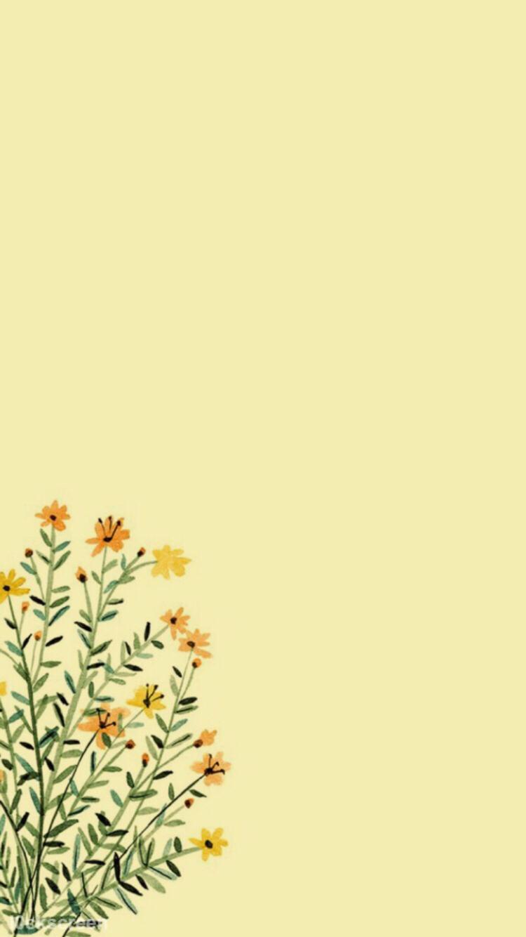 Pastel Yellow Aesthetic Background 750x1334 Wallpaper Teahub Io
