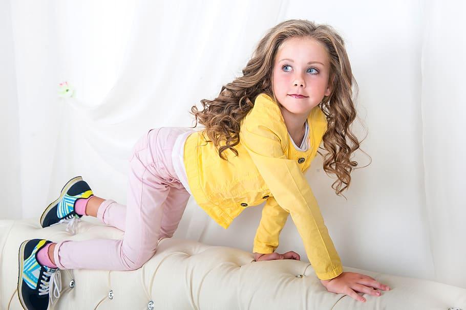 Girl, Child, Model, Portrait, Fashion, Hair, Eyes, - Little Girl 4k - HD Wallpaper