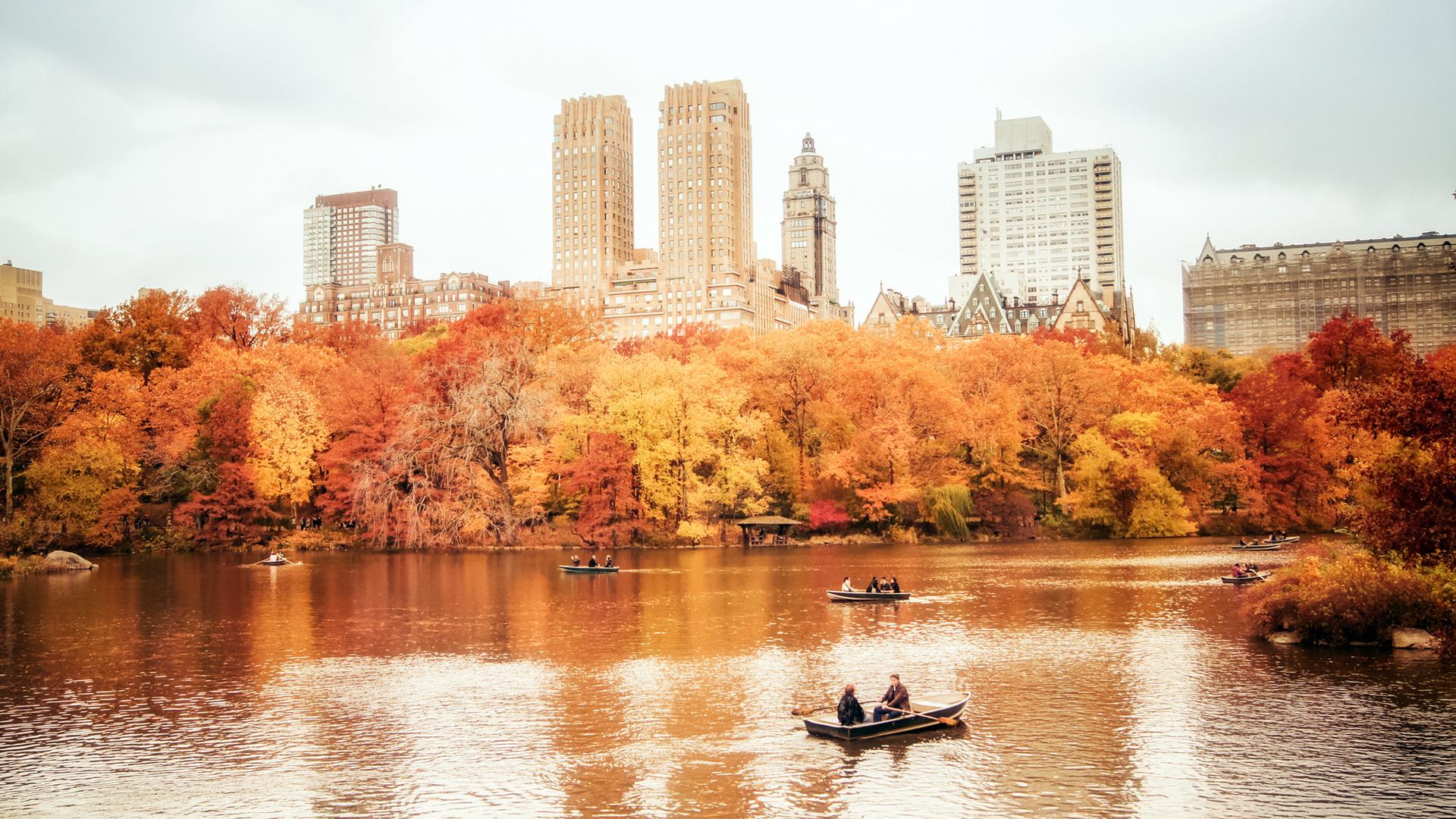 Usa, Manhattan, New York, Nyc, New York City, Manhattan, - New York Fall Wallpaper For Desktop - HD Wallpaper
