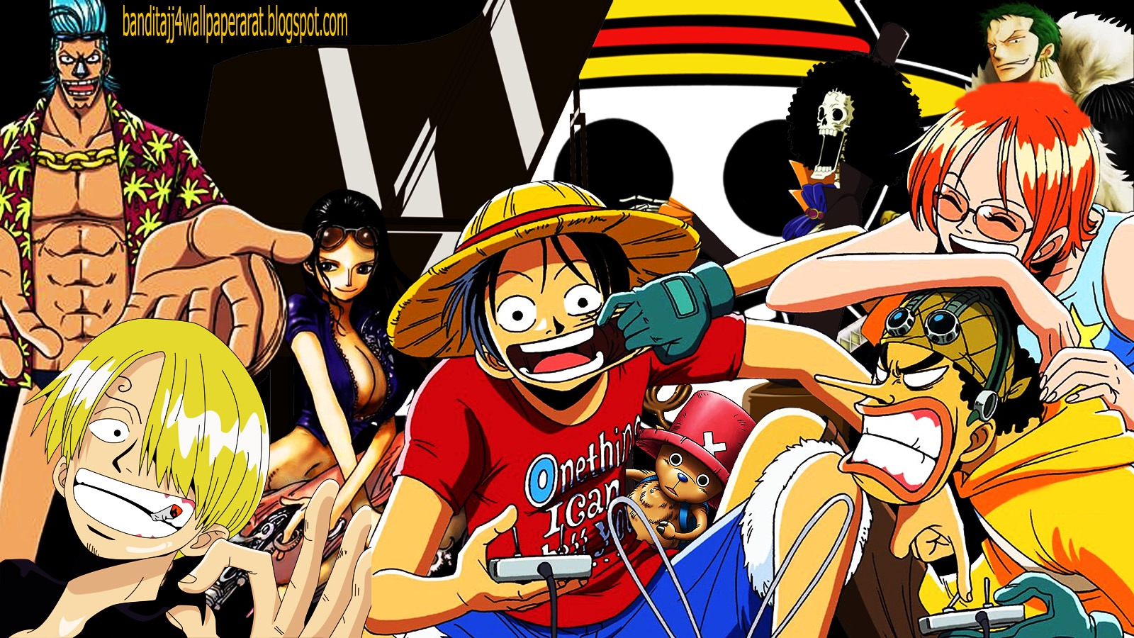 Download Gambar One Piece Keren 1600x900 Wallpaper Teahub Io