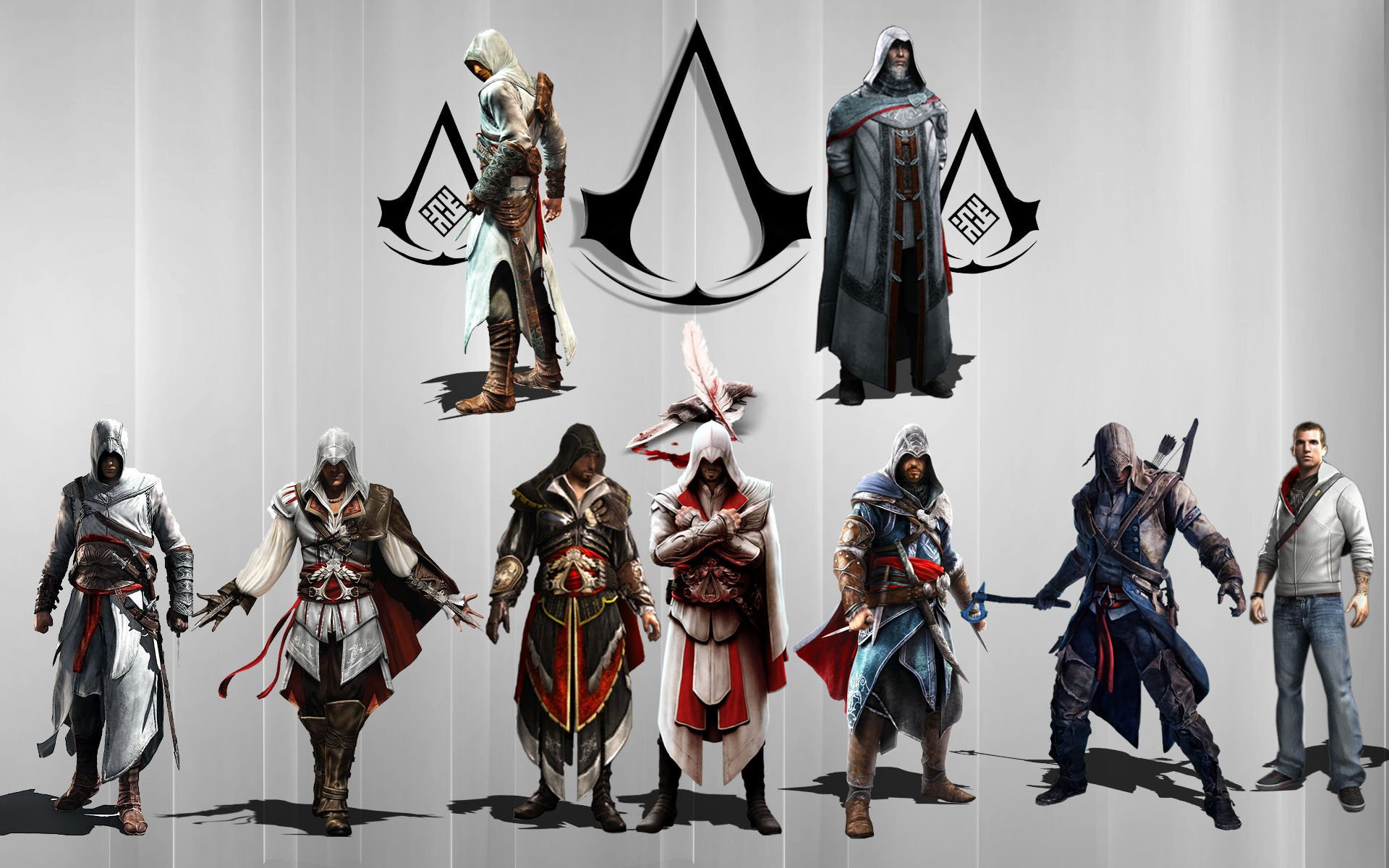 Assassins Creed Altair Ezio Y Desmond 1920x1200 Wallpaper