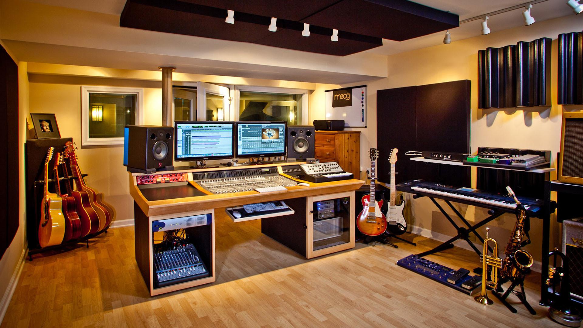 Recording Studio Wallpaper The Recording Studio Data Music Room Recording Studio 1920x1080 Wallpaper Teahub Io