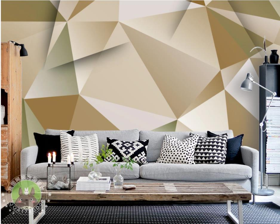 3d Wall Painting Designs For Living Room Geometric - HD Wallpaper