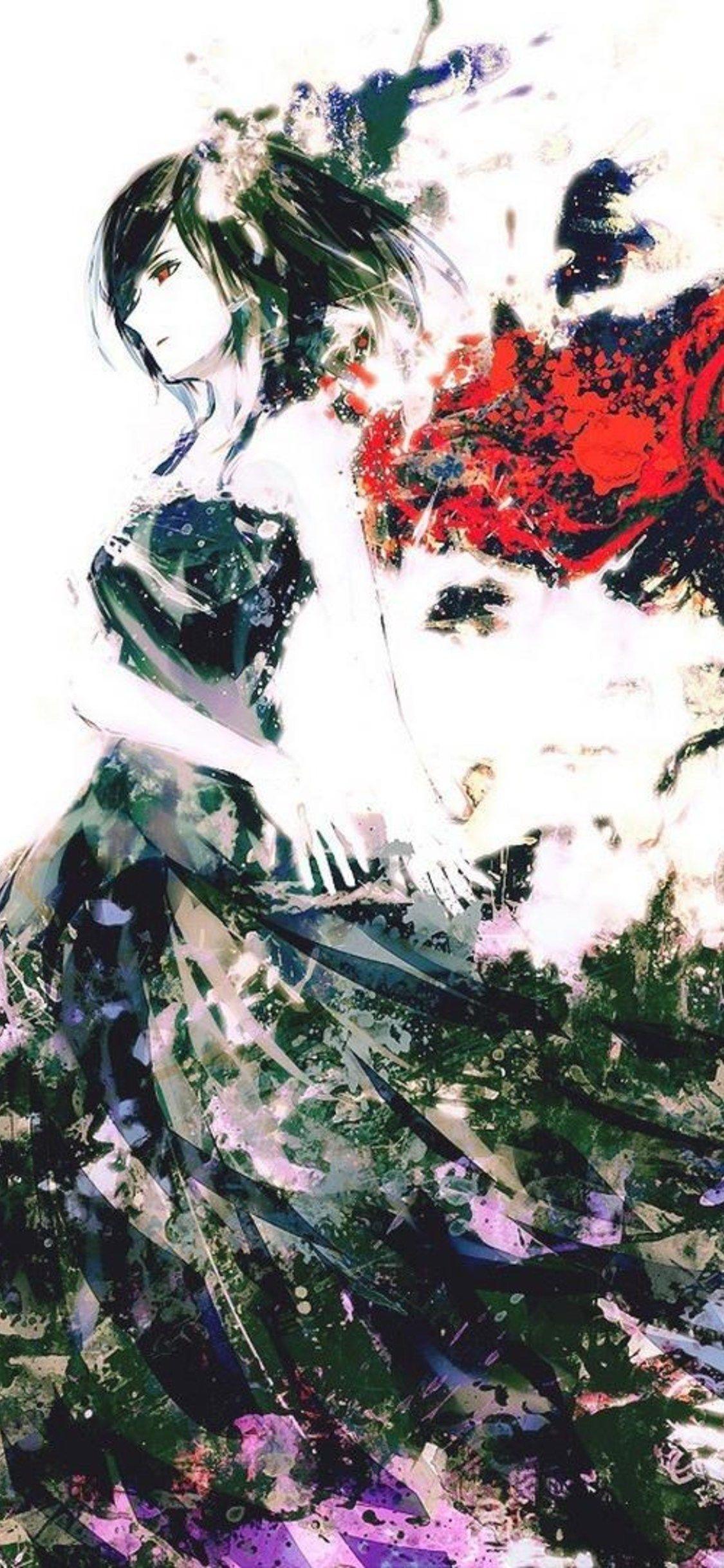 Tokyo Ghoul Art Anime Iphone X,iphone 10 Hd 4k Wallpapers - Iphone Wallpapers Hd 4k Anime - HD Wallpaper