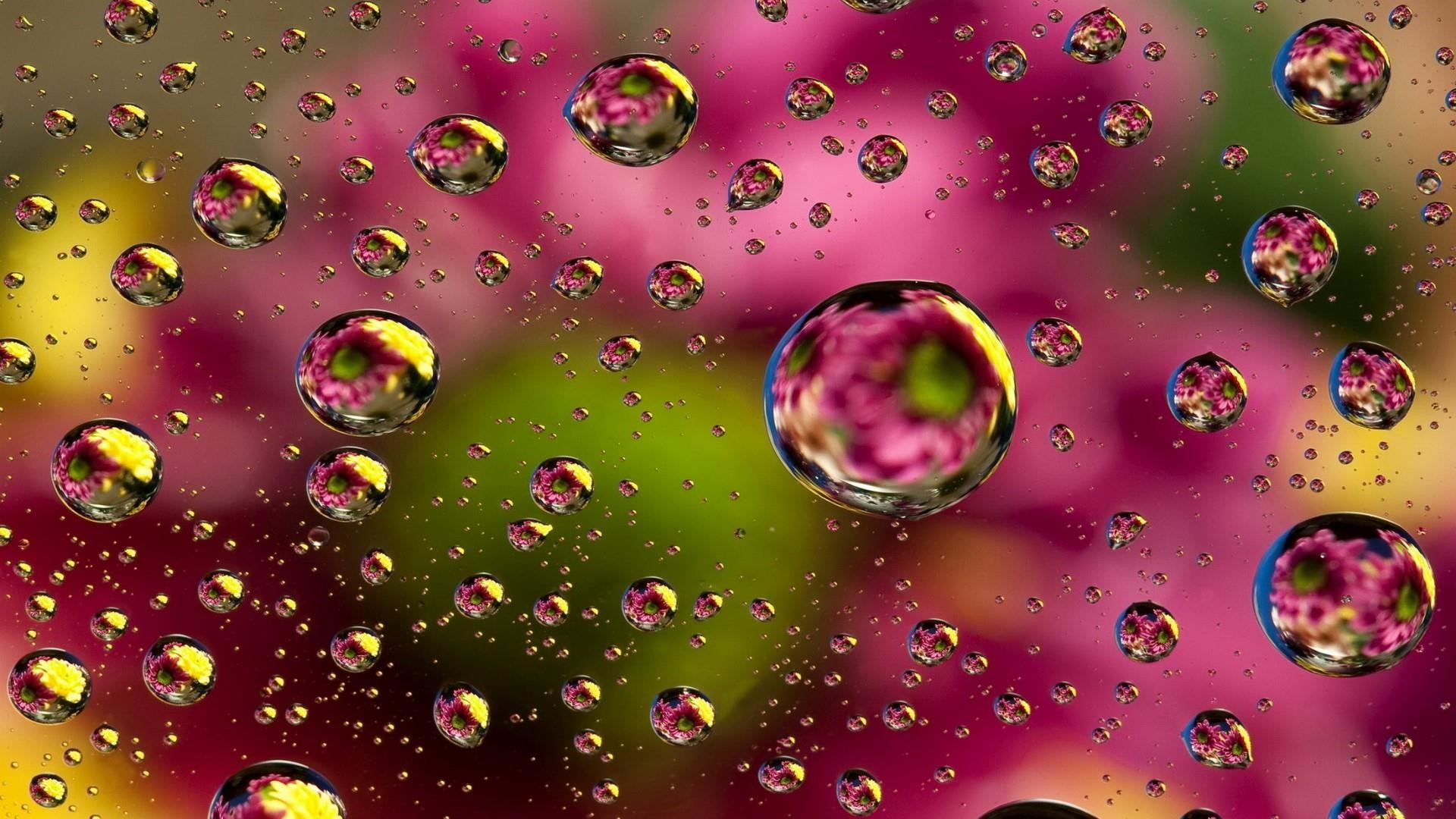 1920x1080, Colorful Waterdrops Wallpaper - Colorful Water Drops Wallpaper Hd - HD Wallpaper