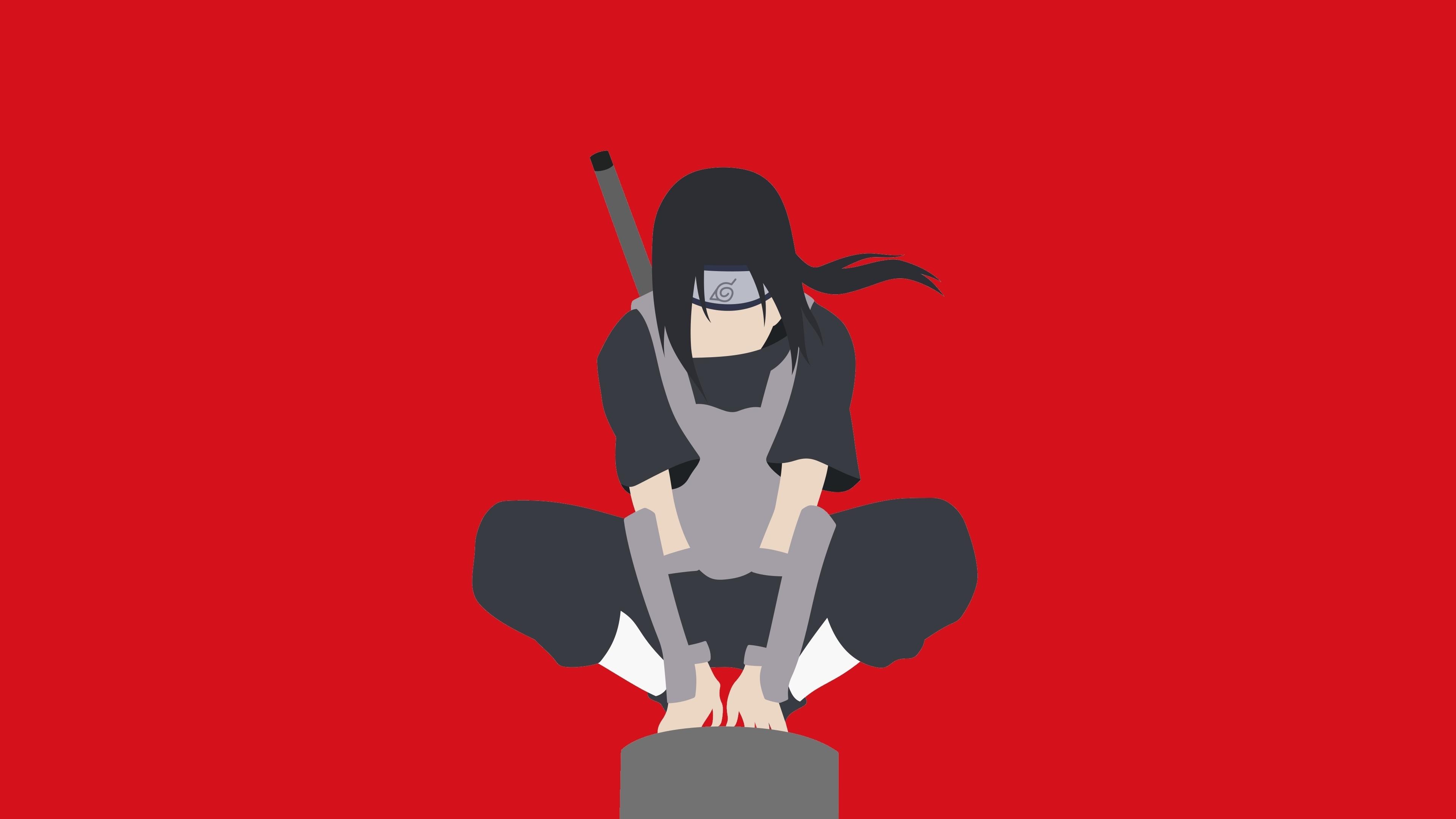 Minimal, Warrior, Naruto, Itachi Uchiha, Wallpaper - Itachi Uchiha - HD Wallpaper