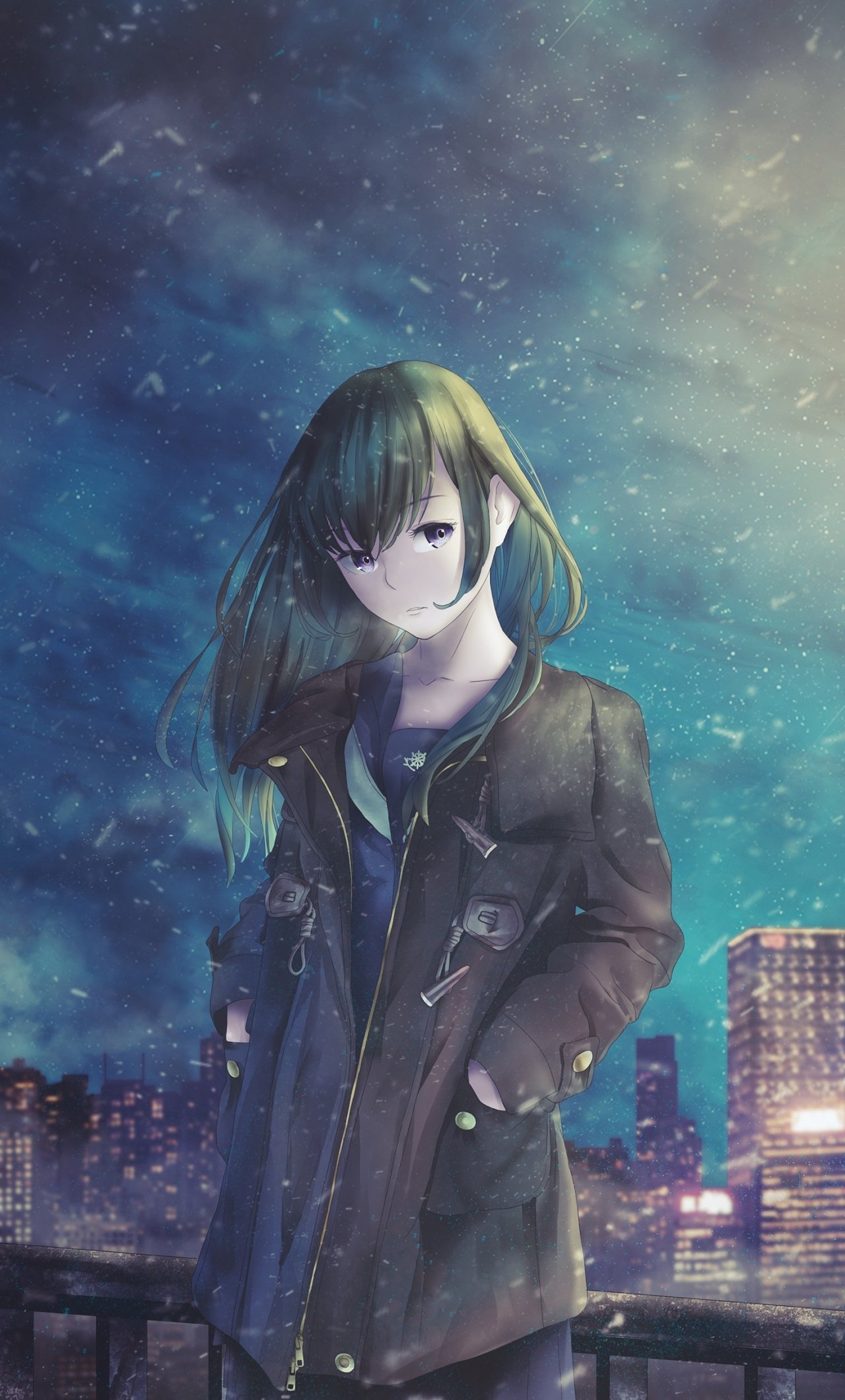 Night Out Original Cute Anime Girl Wallpaper Iphone Anime Girl Wallpaper Hd 1280x2120 Wallpaper Teahub Io
