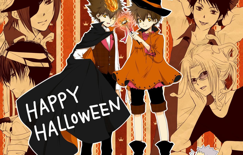 Photo Wallpaper Anime Art Lambo Halloween Reborn Katekyo Hitman Reborn Halloween 1332x850 Wallpaper Teahub Io