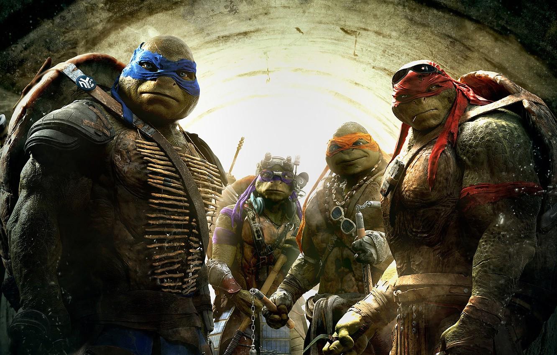 Photo Wallpaper Fantasy, Green, Tmnt, Raphael, Leonardo, - Teenage Mutant Ninja Turtles Raphael Movie - HD Wallpaper