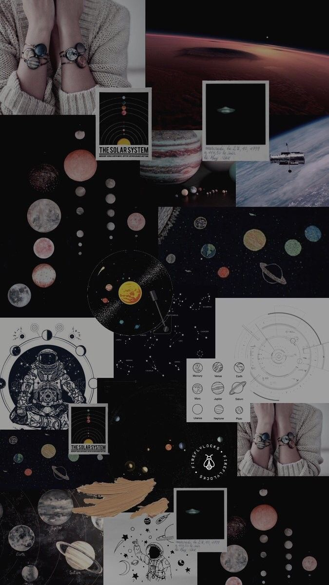 Planets, Wallpaper, And Lockscreen Image - Aesthetic Lockscreen Planet - HD Wallpaper