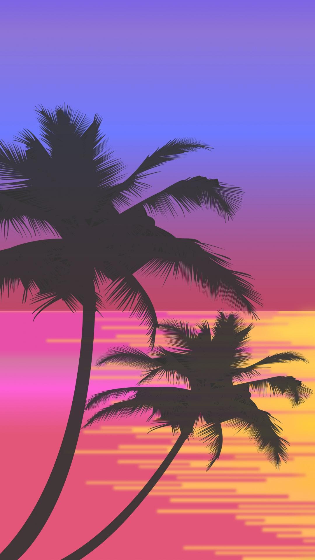 Palm Tree Iphone Wallpaper - Palm Tree Wallpaper Iphone - HD Wallpaper
