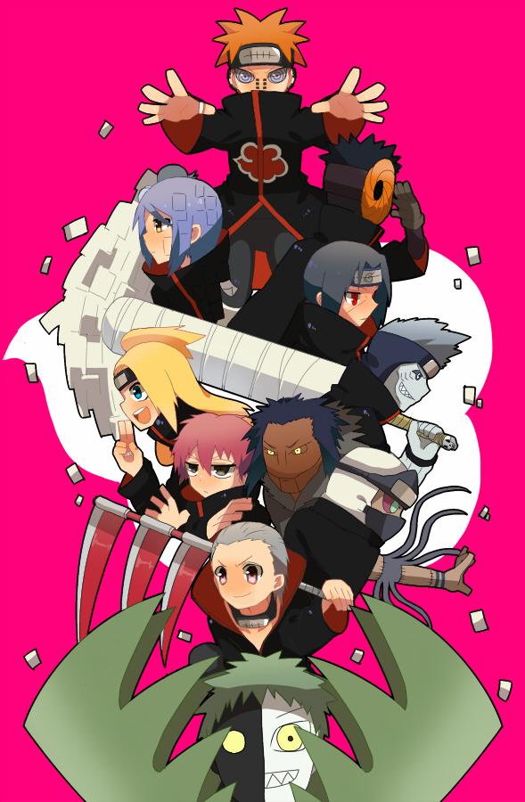 All Akatsuki Members Wallpaper Iphone 589x900 Wallpaper Teahub Io