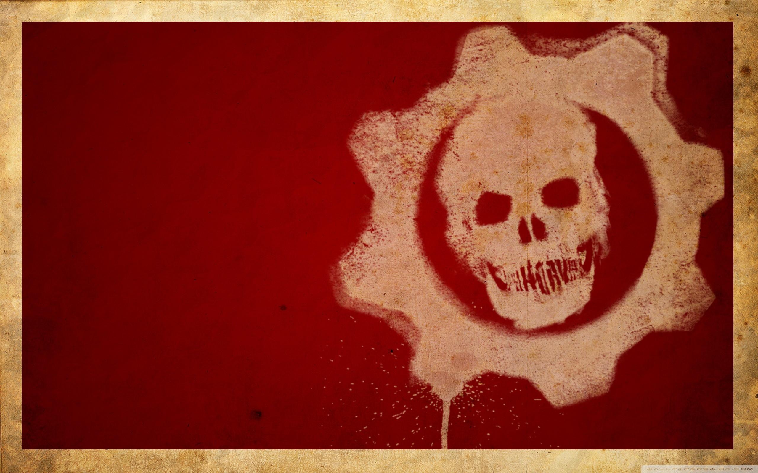 Gears Of War 3 Logo Hd Wide Wallpaper For 4k Uhd Widescreen - Logo Gears Of War Hd - HD Wallpaper