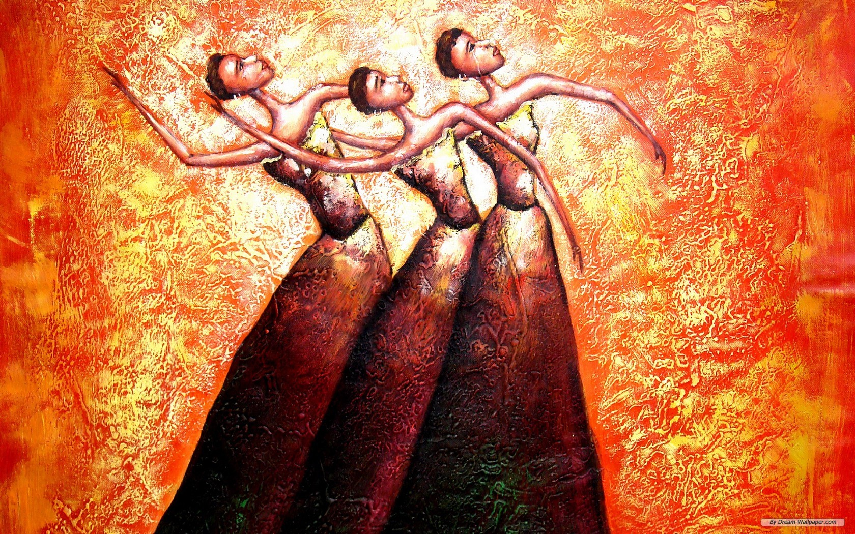 Free Art Wallpaper - Abstract Oil Painting Wallpaper Hd - HD Wallpaper