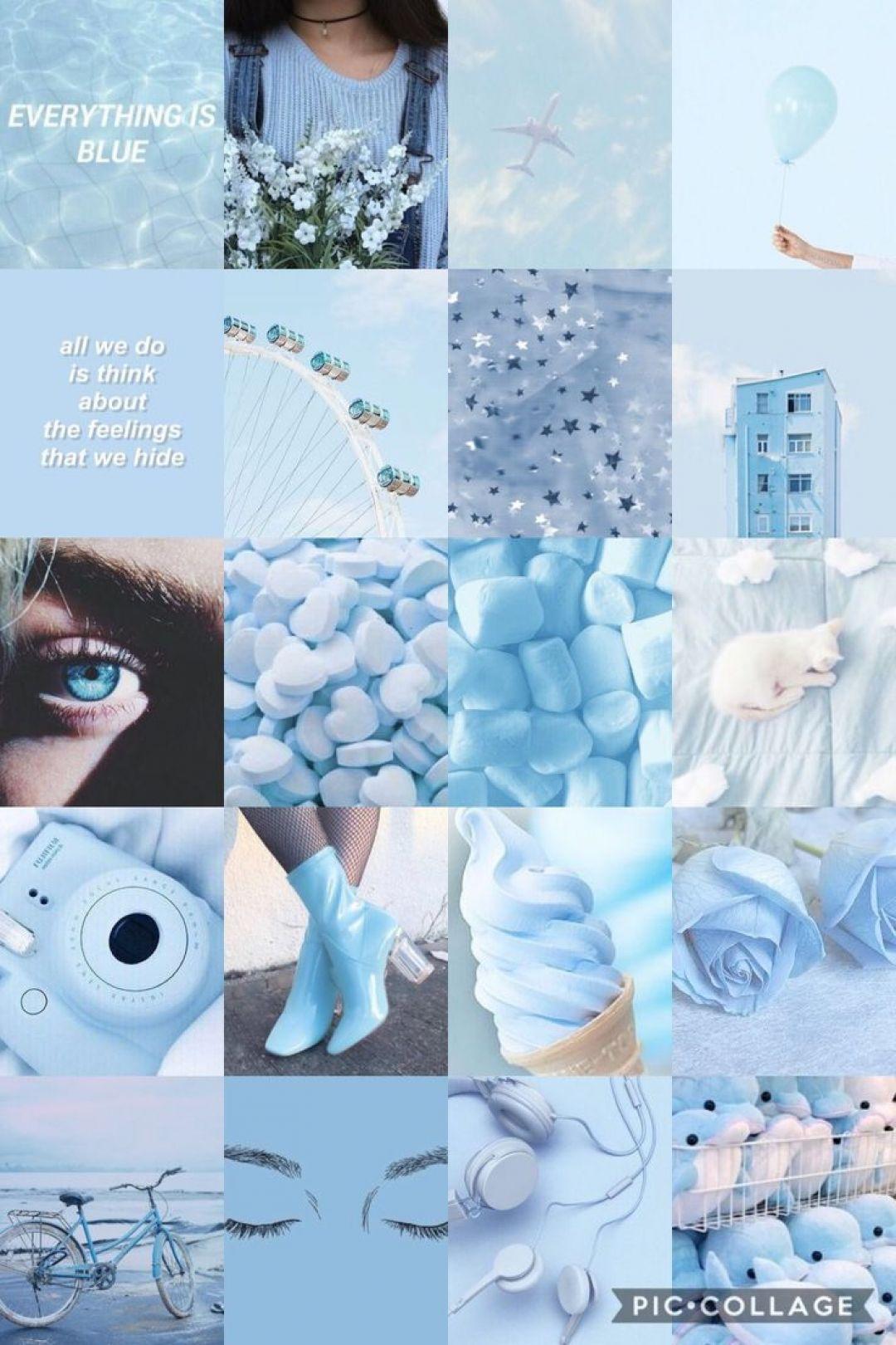Blue Aesthetic Tumblr - Pastel Wallpaper Aesthetic Blue - HD Wallpaper