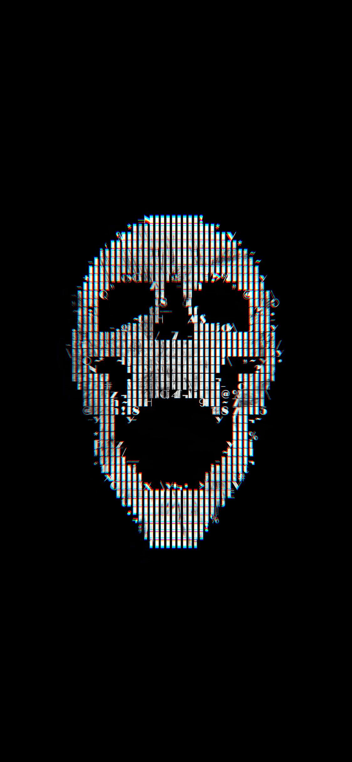 Com Apple Iphone Wallpaper Bc71 Digital Skull Dark - Skull Dark - HD Wallpaper