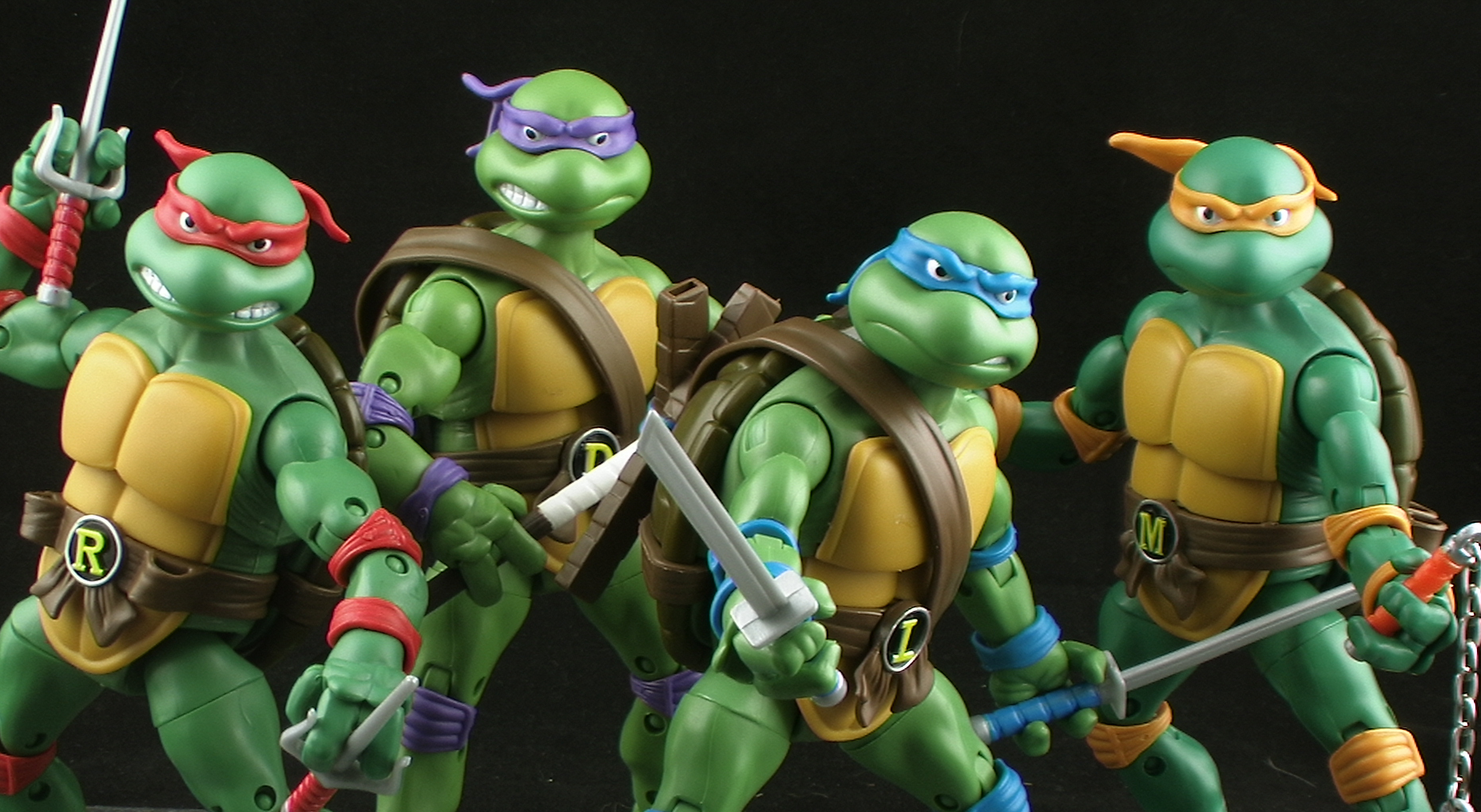 12 Facts About The Teenage Mutant Ninja Turtles You - Teenage Mutant Ninja Turtles Classic Figures - HD Wallpaper