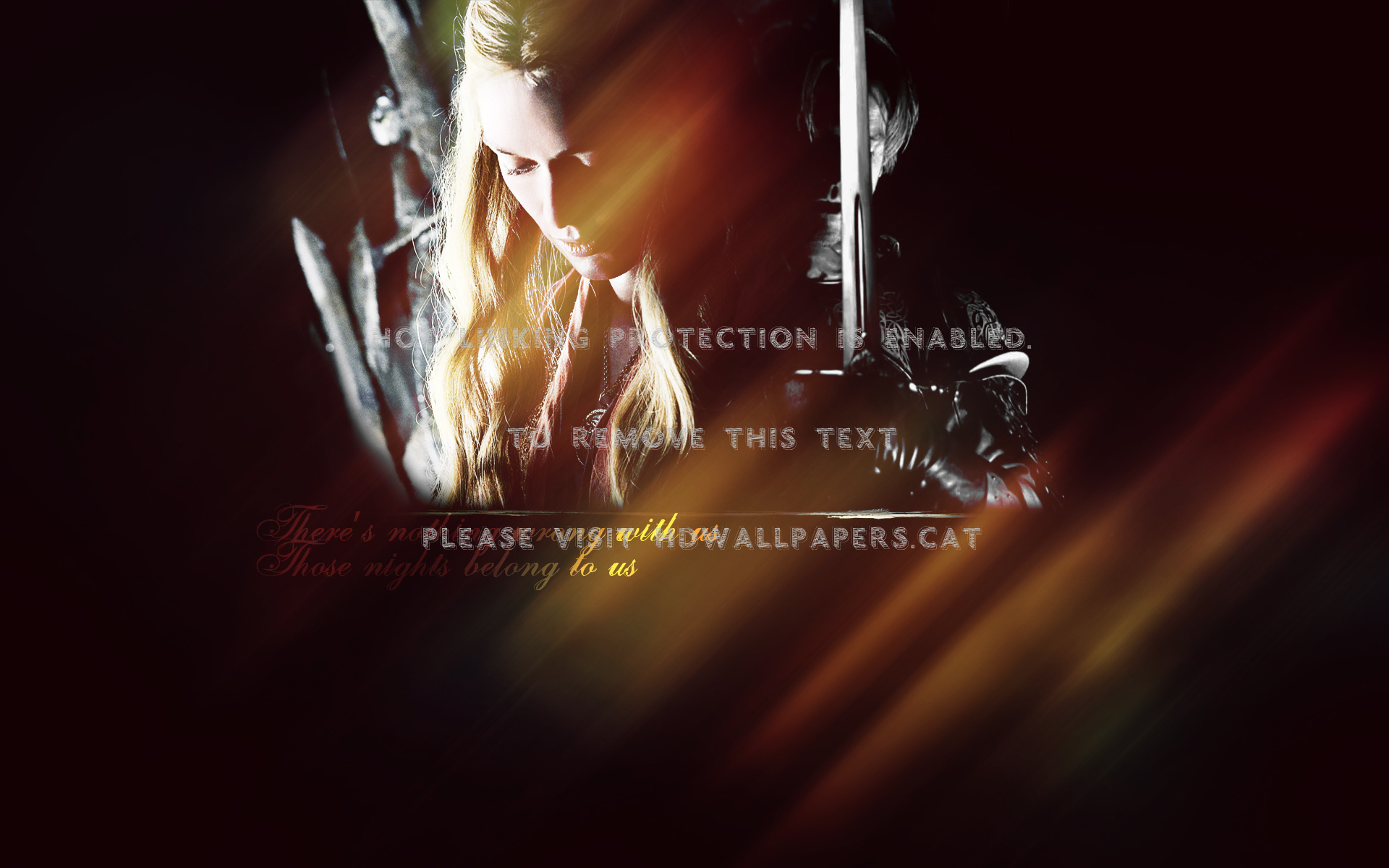 Game Of Thrones-jaime & Cersei Lannister Tv - Darkness - HD Wallpaper