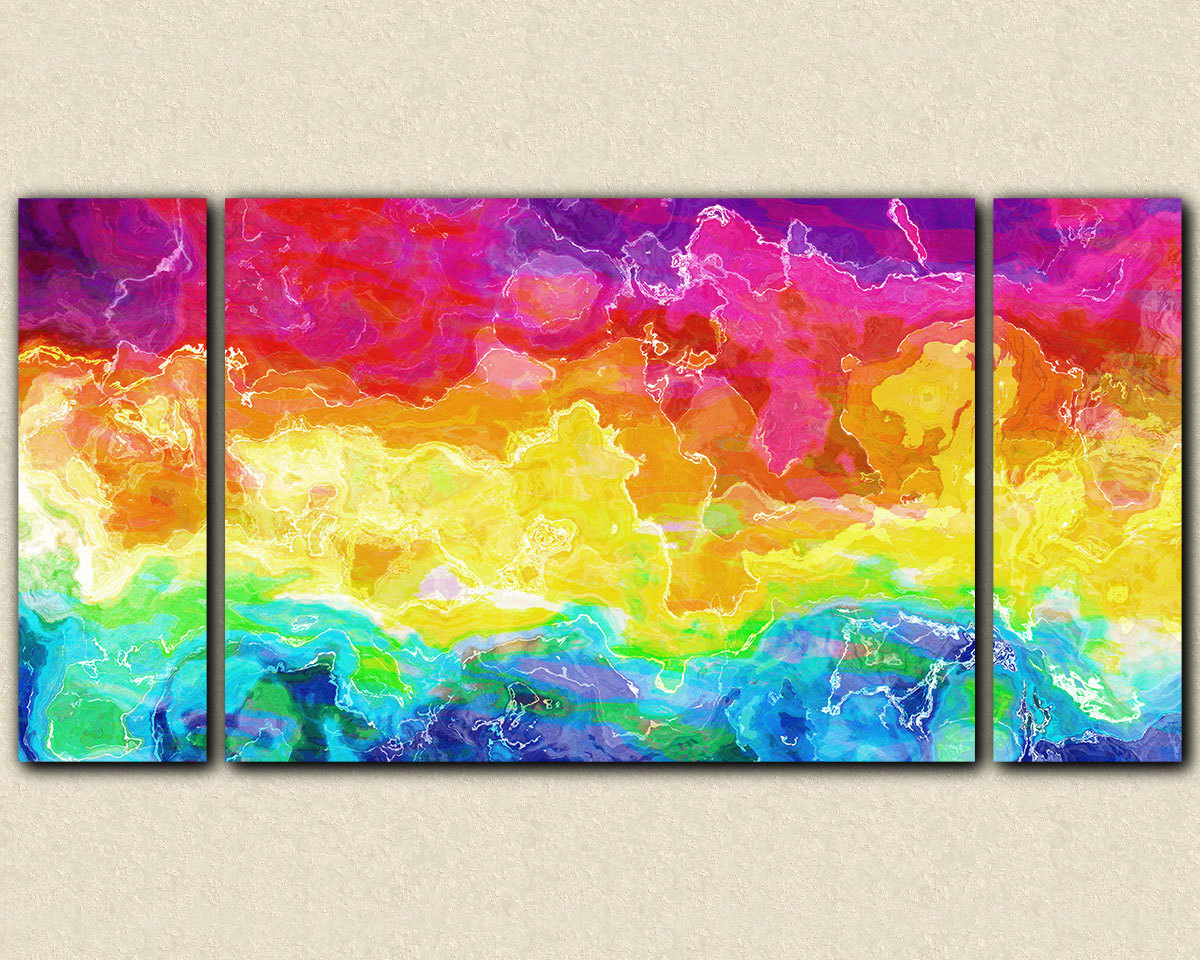 Awesome Bright Colored Wall Art Contemporary Color - Modern Art - HD Wallpaper