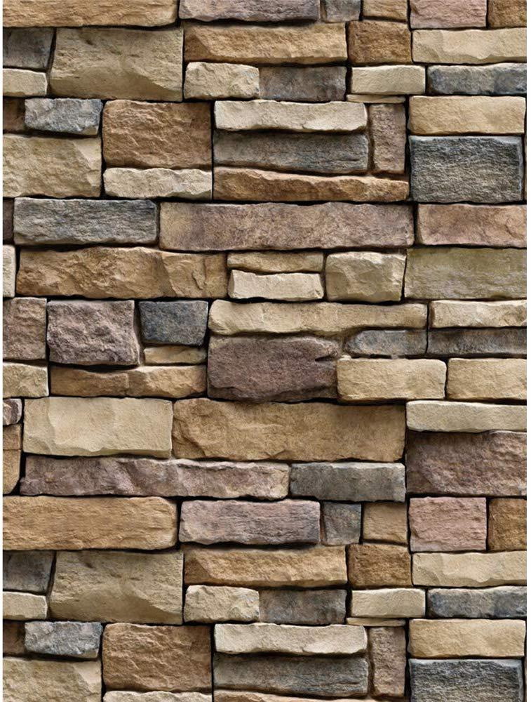 Yenhome Kitchen Backsplash Peel And Stick Wallpaper - Stone Wall - HD Wallpaper