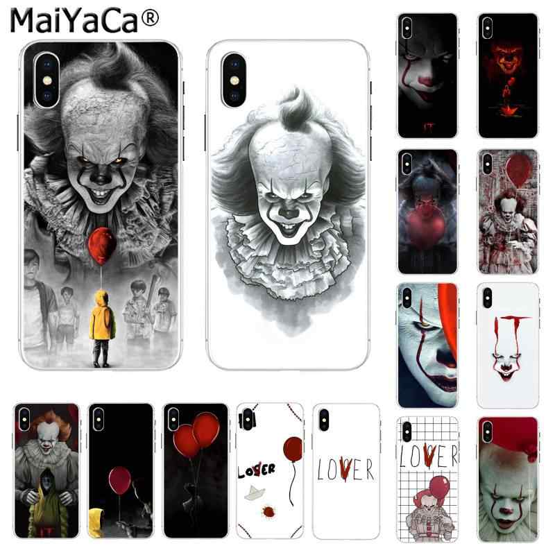 Maiyaca Stephen King S It Pennywise Transparent Phone - Iphone - HD Wallpaper