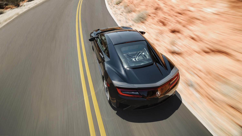 2017 Acura Nsx Top Rear View Black Color 4k Hd Wallpaper Honda Nsx 1500x844 Wallpaper Teahub Io