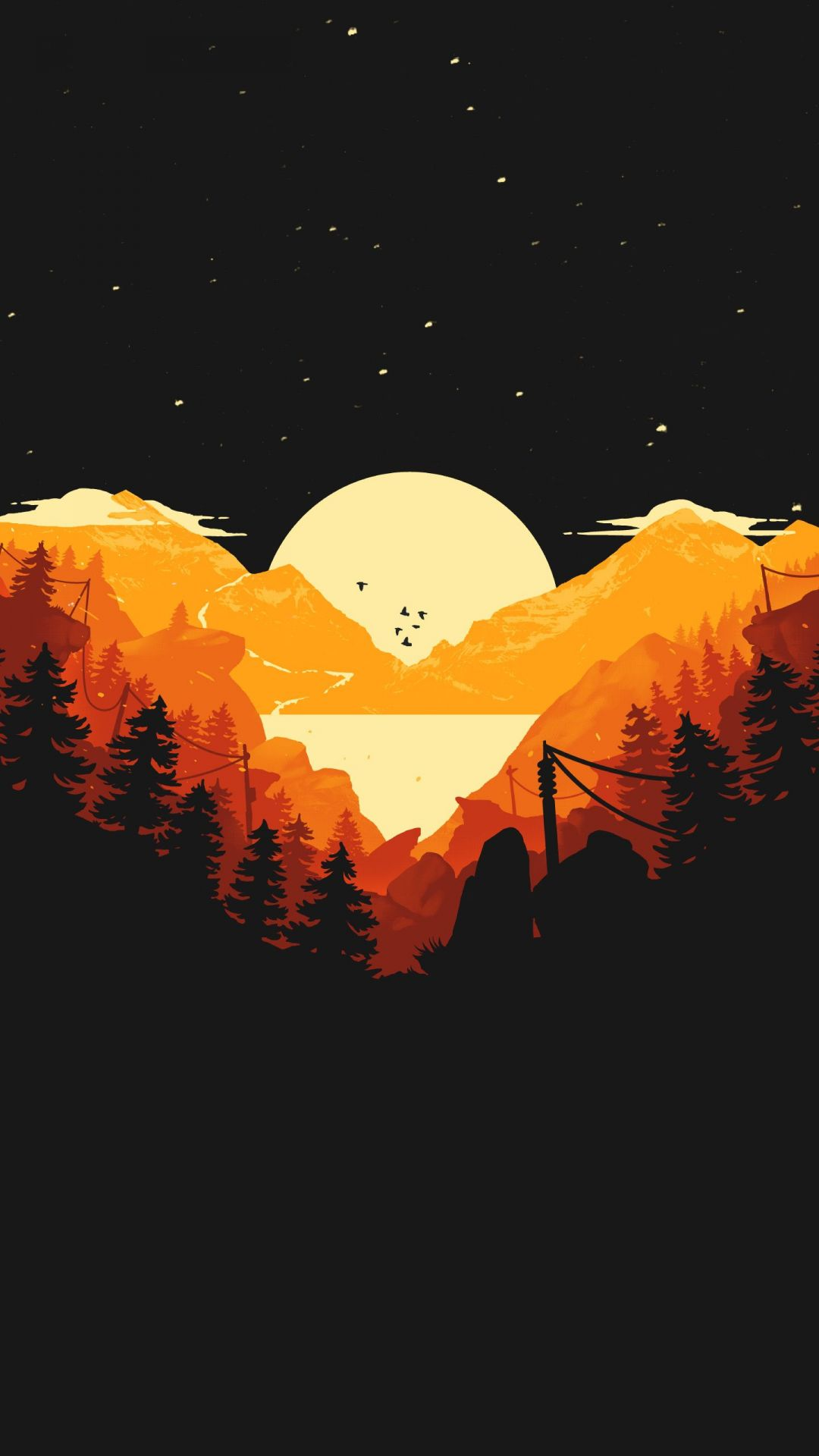 Android Iphone Desktop Hd Backgrounds Wallpapers Hd Minimalist Landscape Phone Background 1080x1920 Wallpaper Teahub Io