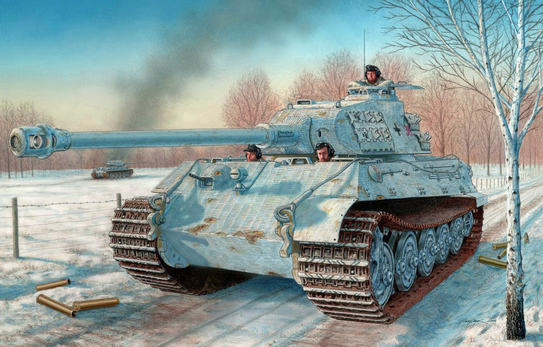 Photo Wallpaper Figure, The Second World, The Germans, - Dragon 1 35 King Tiger Porsche - HD Wallpaper