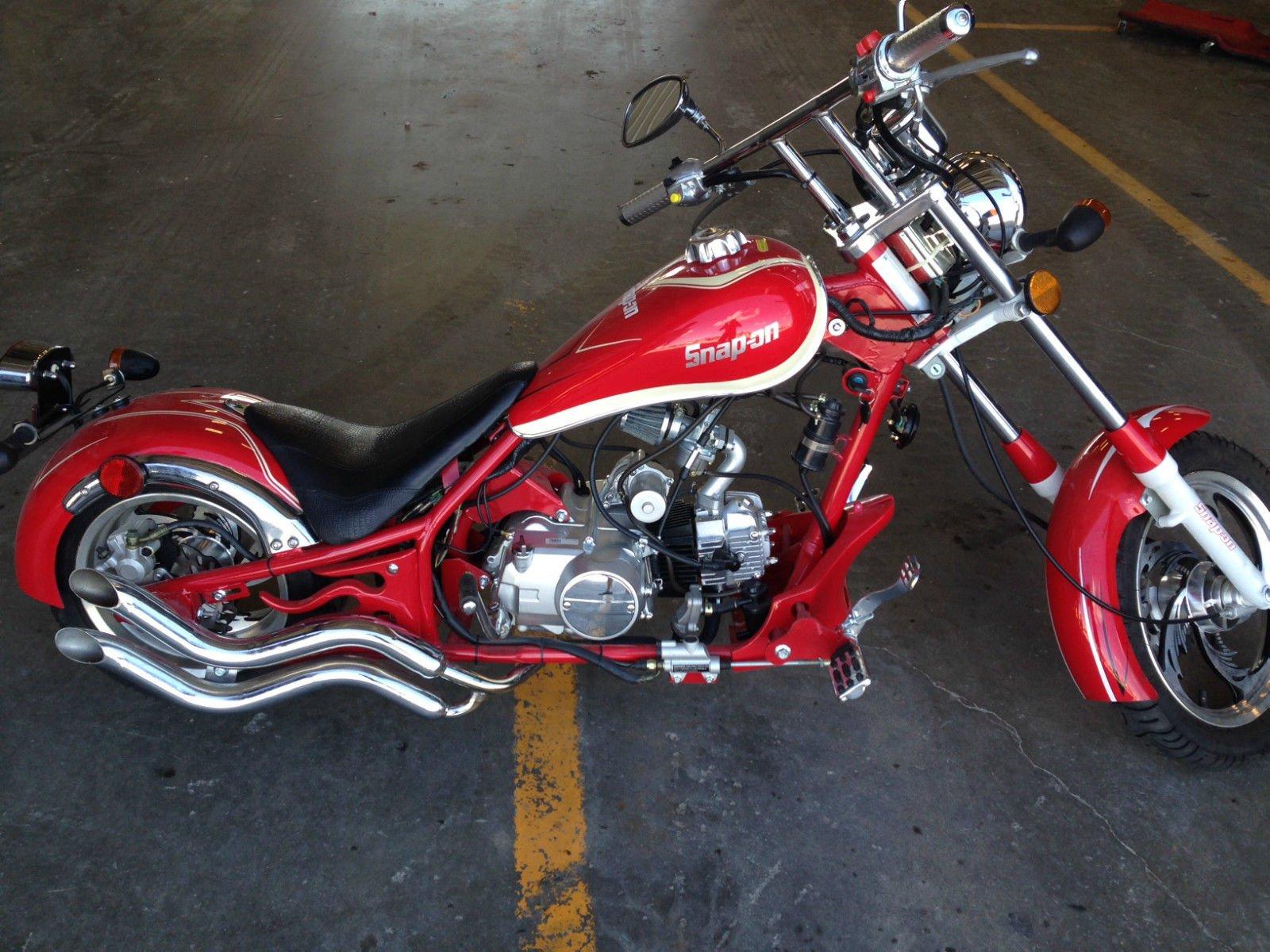 Chopper Motorbike Custom Bike Motorcycle Hot Rod Rods - Snap On 125cc Mini Chopper - HD Wallpaper