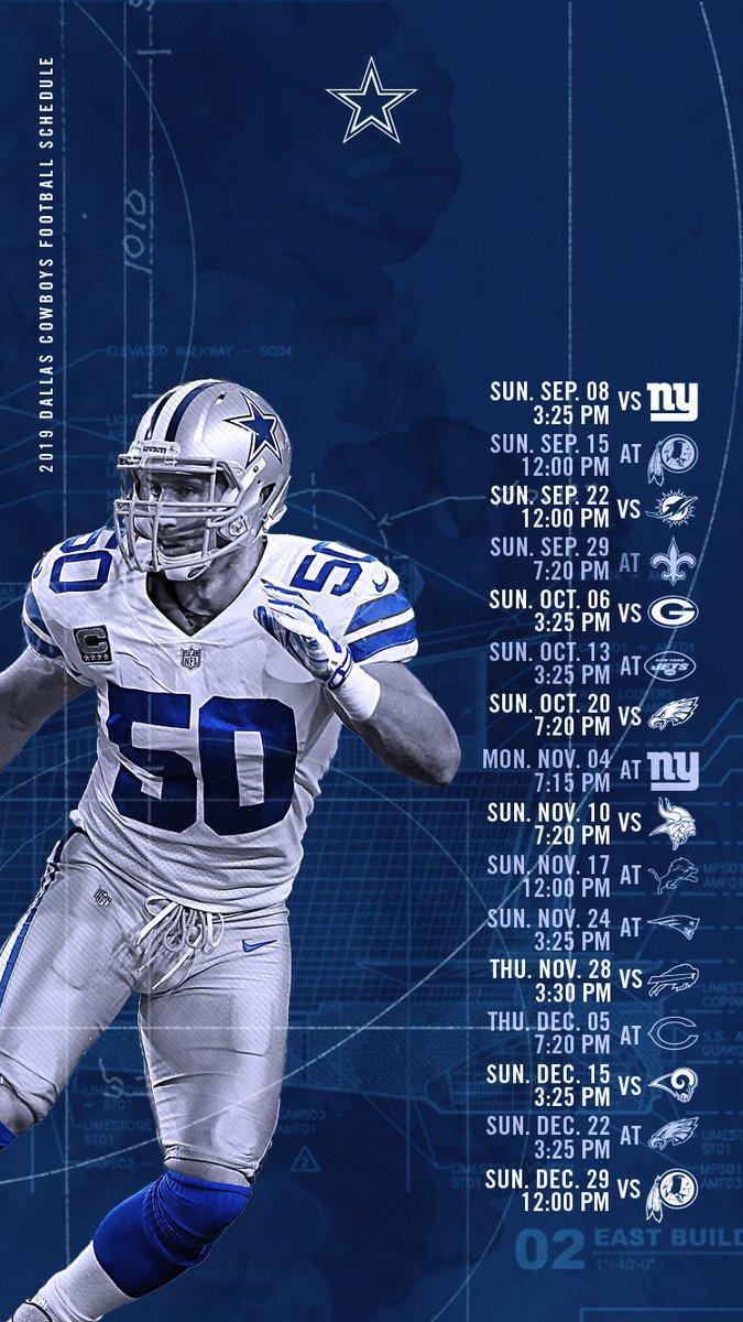 Dallas Cowboys Schedule 2019 - HD Wallpaper