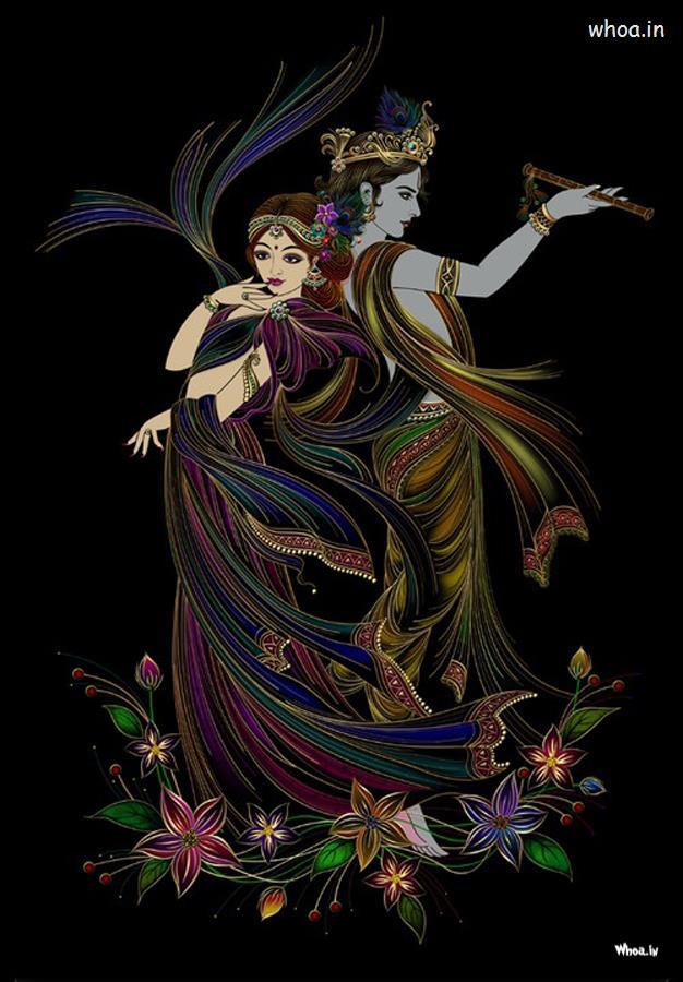 Krishna Wallpaper Hd - Radha Krishna Art Hd - HD Wallpaper