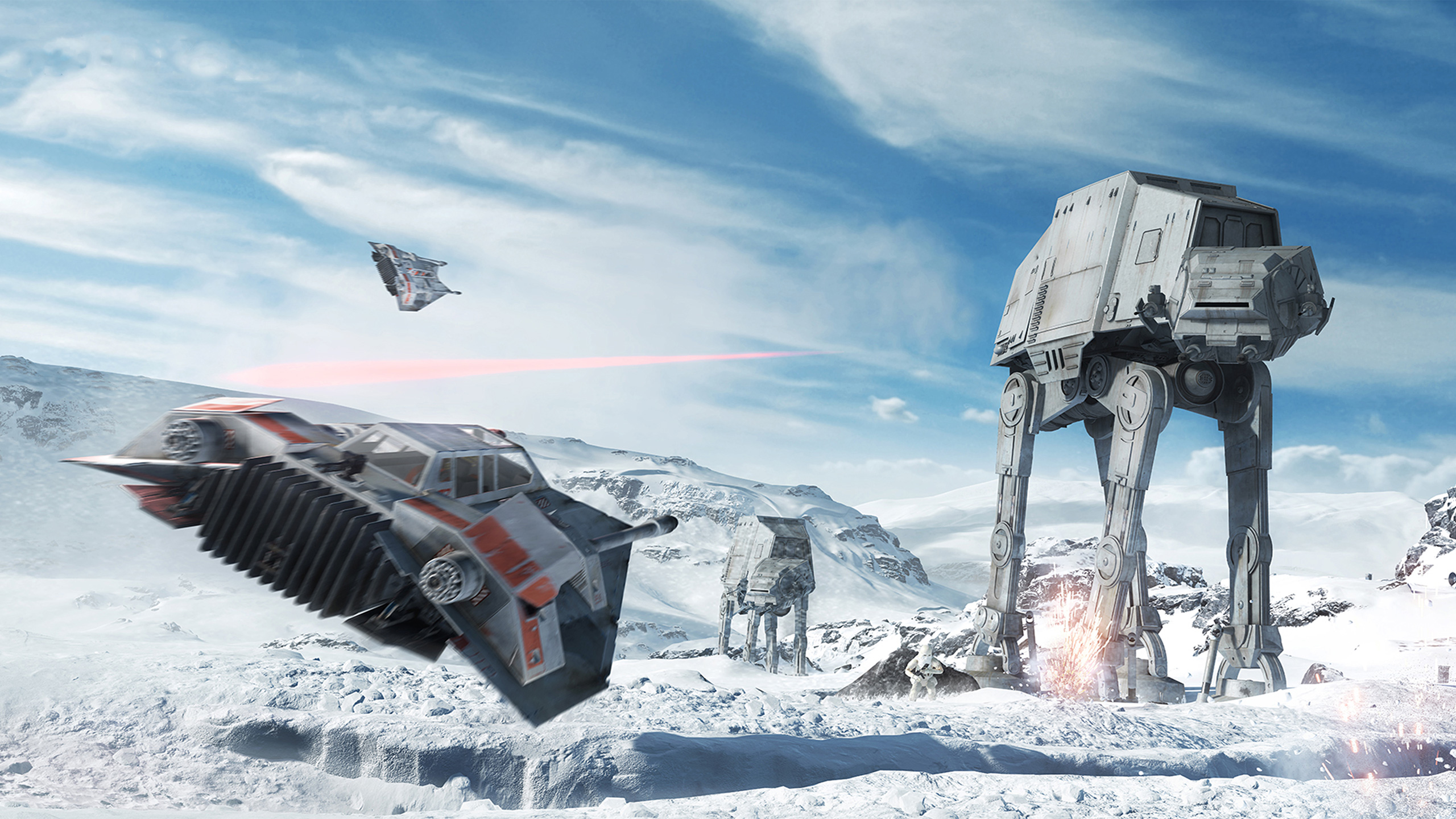 Star Wars Battlefront 4k Hd Wallpaper Star Wars Hoth Battle 2560x1440 Wallpaper Teahub Io