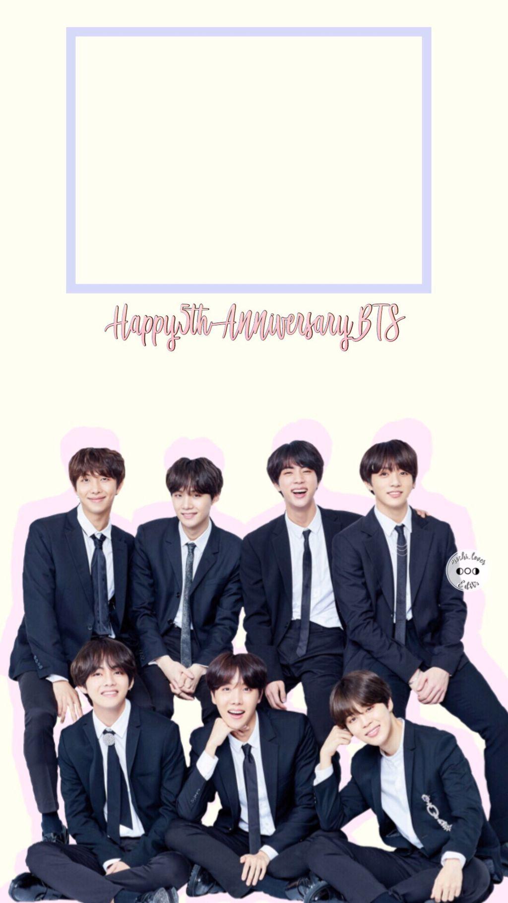 - 🎉💜  🌟bts Ios Lockscreen Wallpaper  happy Anniversary - Bts All Black Hair - HD Wallpaper