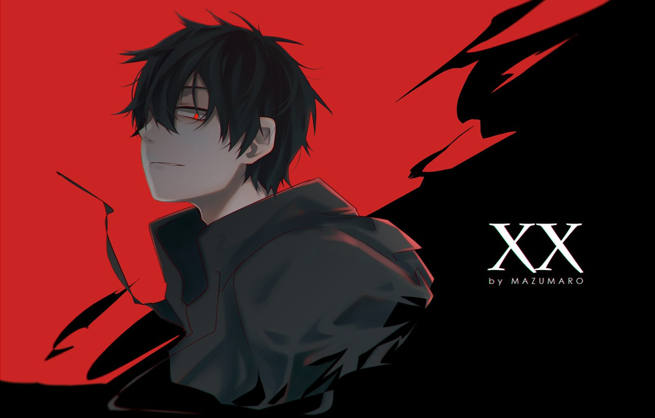 Photo Wallpaper Anime, Guy, Kagerou Project, The Project - Anime Guy With Black Hair Hot - HD Wallpaper