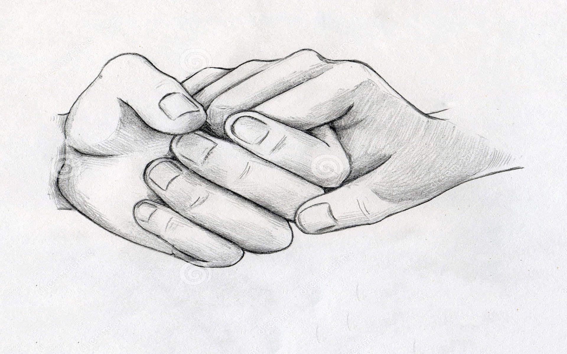 Love Romantic Simple Pencil Drawing - HD Wallpaper