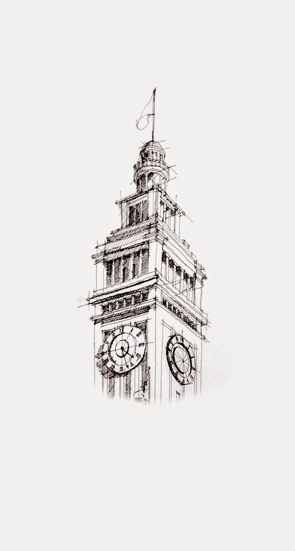 Architecture Sketch Wallpaper Iphone - HD Wallpaper
