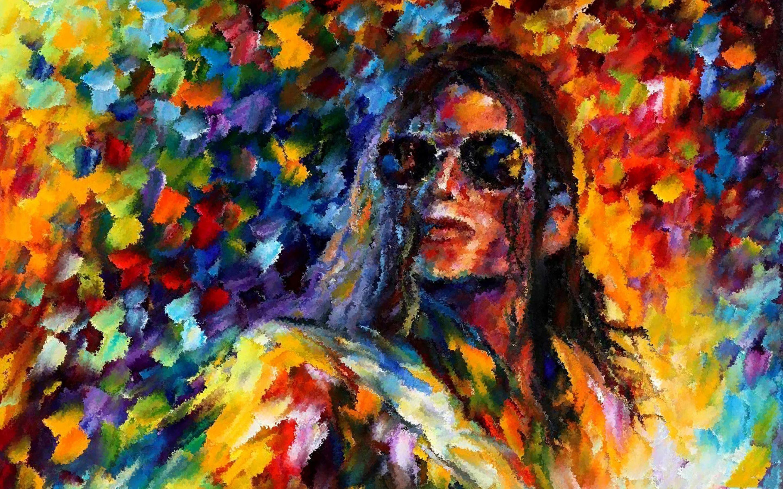 Michael Jackson Colorful Arte Wallpaper Hd Background - Painting Art - HD Wallpaper