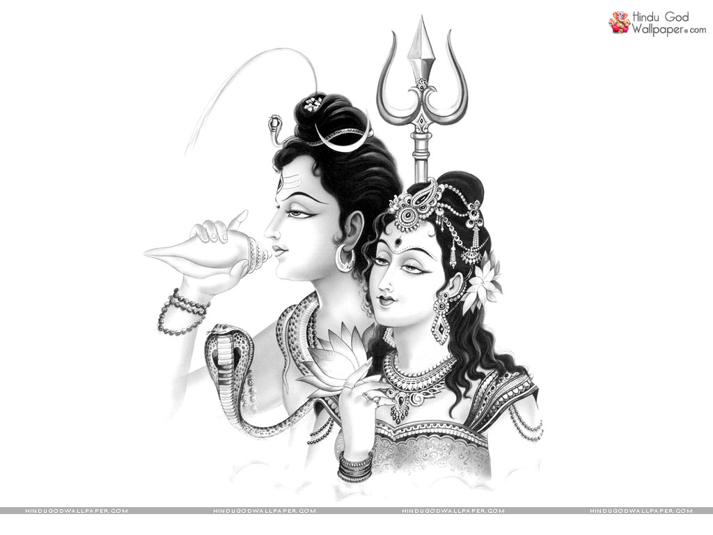Shiva Sketch Pencil Hd Images - Shiv Parvati Pencil Sketch - HD Wallpaper