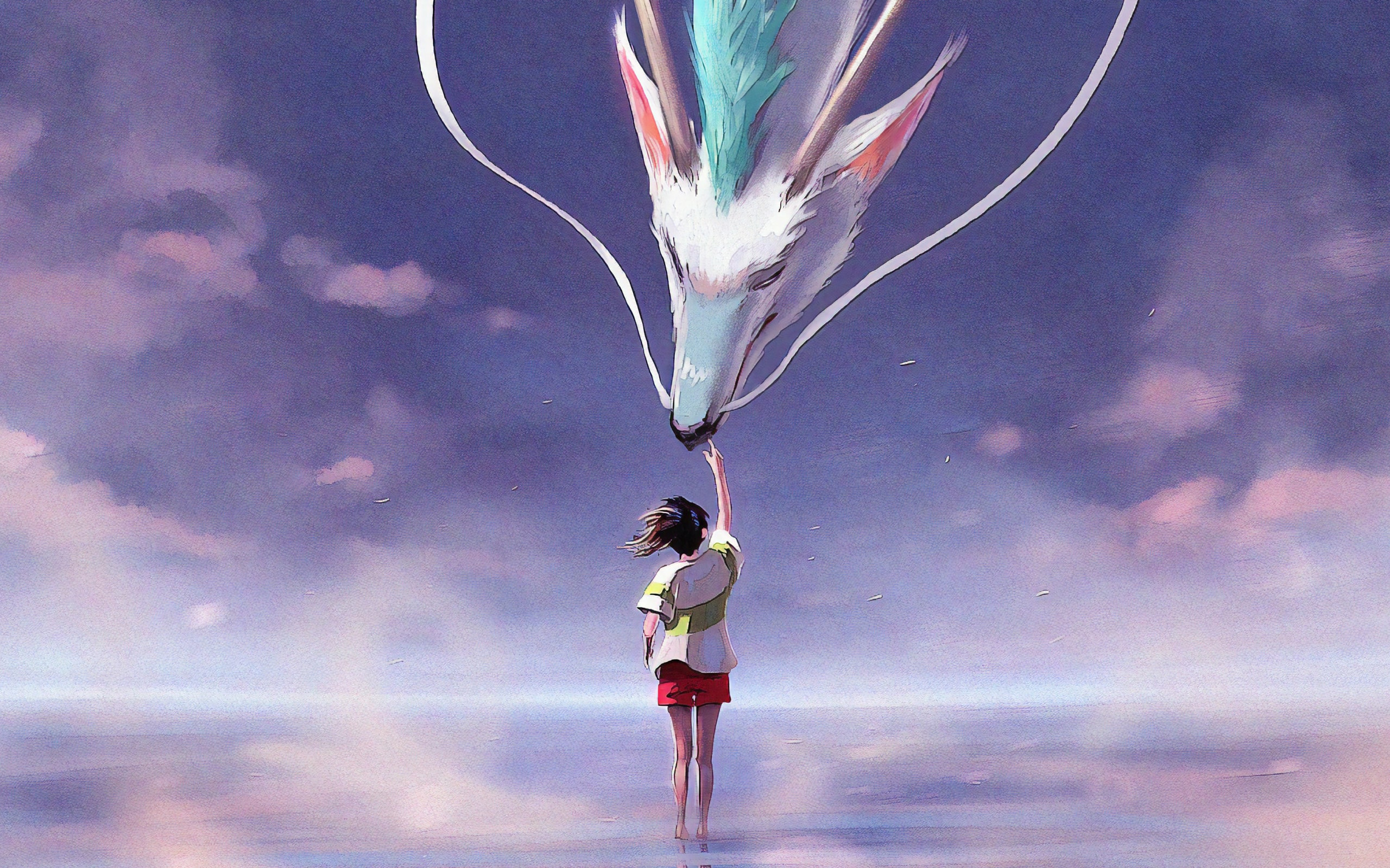 Wallpaper Of Dragon Girl Spirited Away Art Movie Spirited Away Wallpaper 1080p 2560x1600 Wallpaper Teahub Io