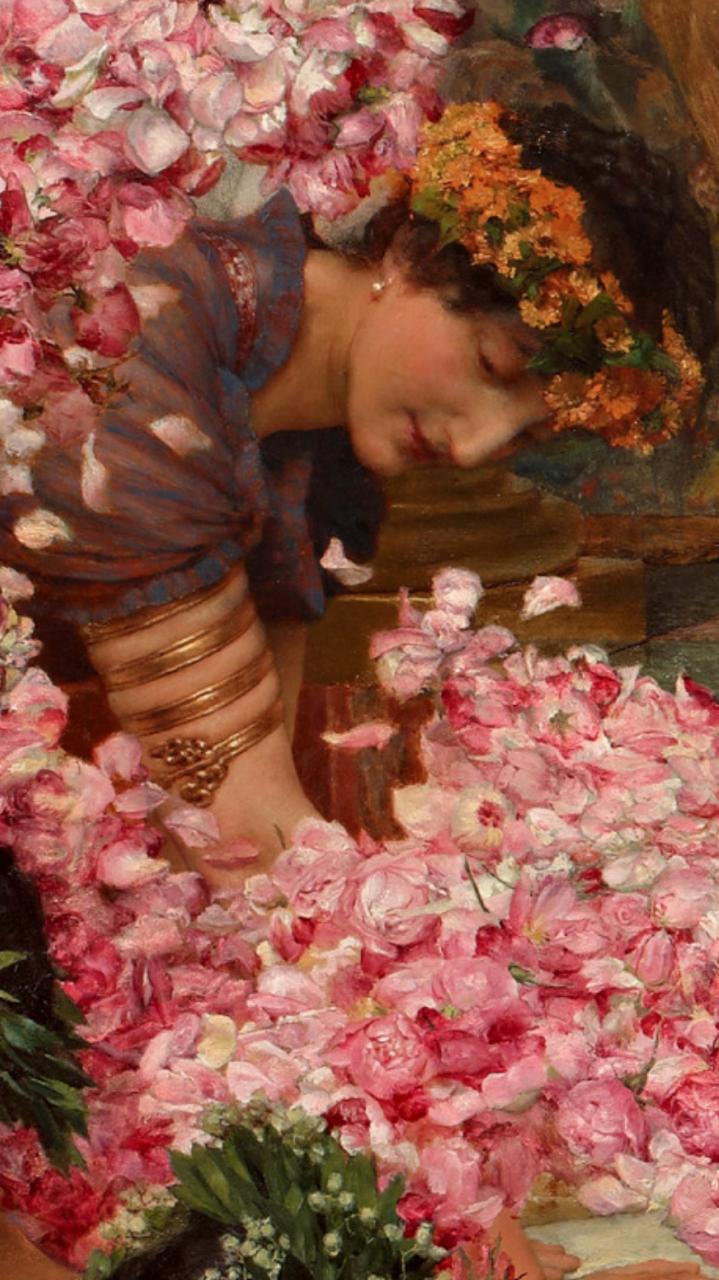 Roses Of Heliogabalus Alma Tadema - HD Wallpaper
