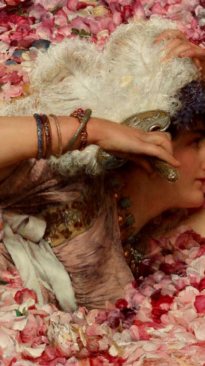 Lawrence Alma Tadema The Roses Of Heliogabalus Hd - HD Wallpaper
