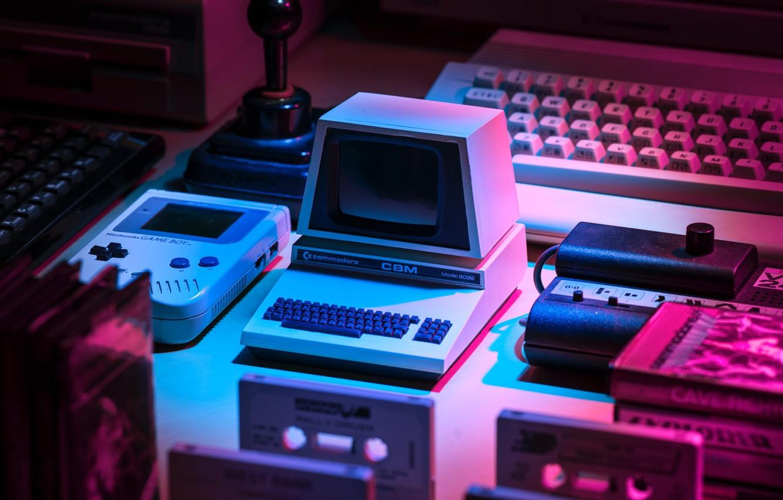Photo Wallpaper Style, 80s, Style, Nintendo, Commodore, - Retro 4k - HD Wallpaper