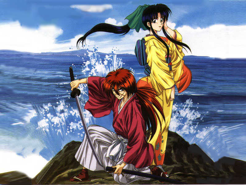 Kenshin And Kamiya Kauru At The Sea Rurouni Kenshin And Kauri 800x600 Wallpaper Teahub Io