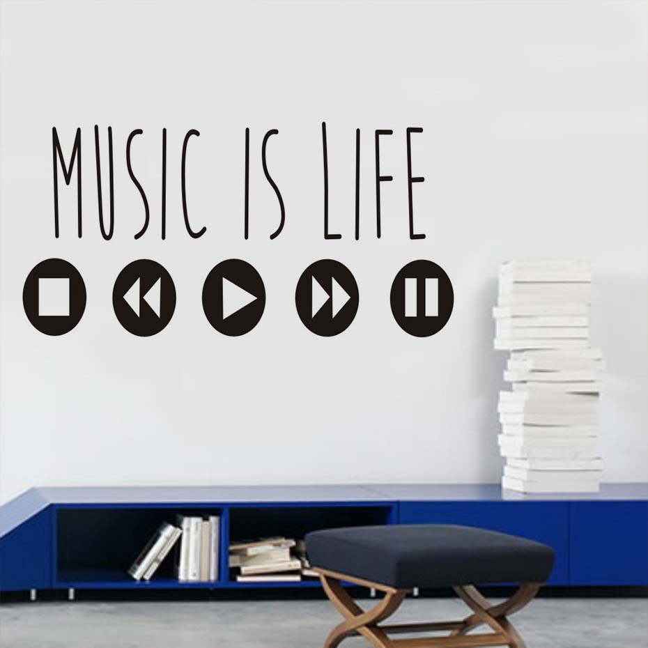 Music Quote Wall Stickers - HD Wallpaper
