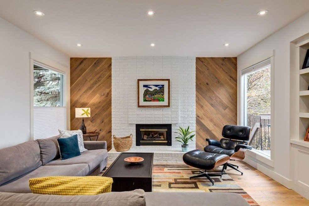 M#century Modern Decor And White Brick Wall - White Brick Walls Interior - HD Wallpaper
